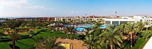 panorama- egypt hotell Arkivfoton