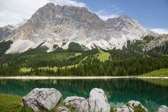 Panorama of Ehrwald Alpin Lake Stock Image