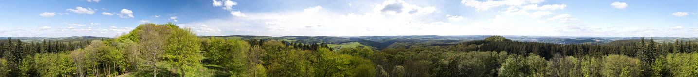 Panorama of the Eifel Royalty Free Stock Photography