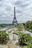 Panorama Eiffel Tower in Paris close up, France Royalty Free Stock Photography