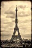 Panorama Eiffel Tower in Paris. Vintage view.  retro style. Stock Image