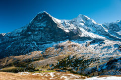 Panorama of Eiger and Monch Stock Images