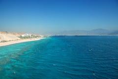 Panorama of Eilat beach Stock Photos