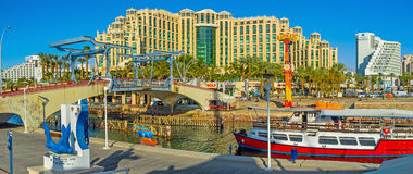 Panorama of the Eilat center Royalty Free Stock Image