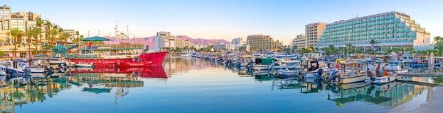 Panorama of Eilat Marina Royalty Free Stock Photos