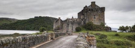 Panorama of Eilean Donan Castle in Scotland Royalty Free Stock Photos