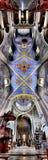 Panorama einer alten Kathedrale. Lizenzfreie Stockfotos