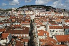 Panorama einer alten Stadt stockbilder