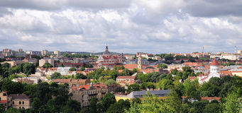 Panorama einer alten Stadt Stockfotografie