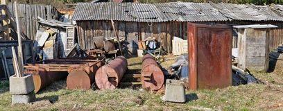 Panorama eines Dorfmüllkippekonzeptes Lizenzfreie Stockfotografie