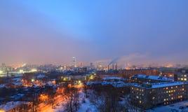 Panorama Ekaterinburg, gammala hus. Arkivbilder