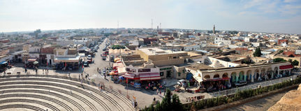 Panorama of El Jem from the Amphitheater Royalty Free Stock Photo