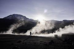 El Tatio Geyser and Andes Mountain Range