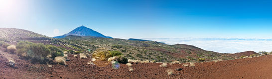 Panorama of el teide national park Royalty Free Stock Photos