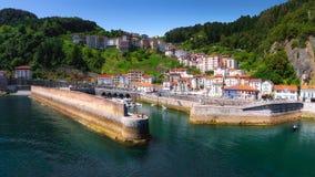 Panorama of Elantxobe village Stock Image