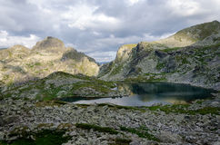 Panorama of Elenski lakes, Rila Mountain, Bulgaria. Daytime panorama of Elenski lakes, Rila Mountain, Bulgaria Royalty Free Stock Photos