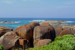 Panorama of the Elephant Rocks, Denmark, Western Australia Stock Photos