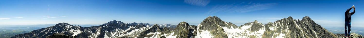 Panorama elevado de Tatras Imagens de Stock Royalty Free