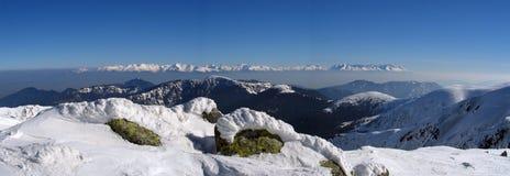 Panorama elevado de Tatras Fotografia de Stock Royalty Free