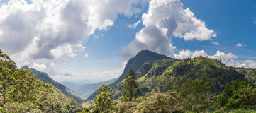 Panorama of Ella Gap in Sri Lanka royalty free stock image