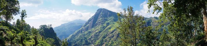 Panorama of Ella Peak Mountain in Sri Lanka Stock Image