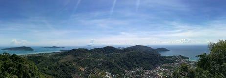 Panorama eller Phuket ö Thailand Royaltyfri Fotografi