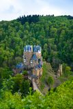 Panorama of Eltz castle in the forests view above Royalty Free Stock Image