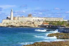 Panorama em Havana, Cuba, das caraíbas foto de stock