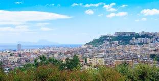 Panorama em Napoli Foto de Stock Royalty Free