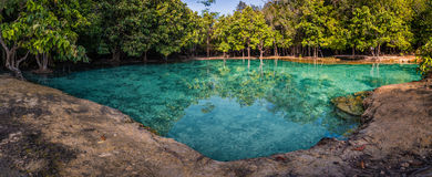 Panorama of Emerald Pool with nobody Royalty Free Stock Photos