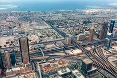 Panorama Emirates Dubai UAE. Panorama of Tall Skyscrapers in Skyline of Emirates by Sergey Nosov Stock Photography