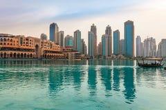 Panorama emiraty, Abu-Dhabi, UAE Zdjęcie Royalty Free