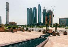 Panorama emiraty, Abu-Dhabi, UAE Obrazy Stock