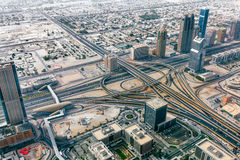 Panorama emiraty, Abu-Dhabi, UAE Obrazy Royalty Free