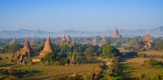 Panorama ะemples of bagan at sunrise, Myanmar Stock Image
