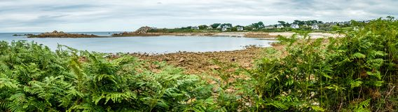 Panorama en Bretagne Photographie stock