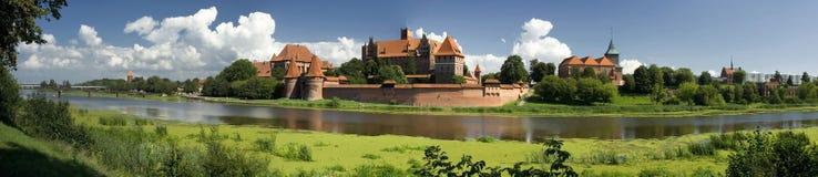 Panorama en el castillo de Malbork Fotos de archivo libres de regalías