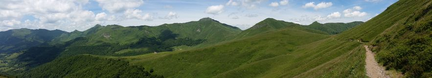 Panorama en el macizo central, Francia Fotos de archivo libres de regalías