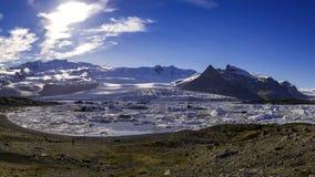 Panorama en el ³ n - Islandia del rlà del ¡de Fjallsà Fotos de archivo