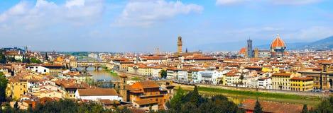 Panorama en Florencia Fotografía de archivo
