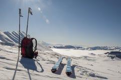 Panorama en la cumbre imagen de archivo libre de regalías