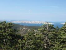 Panorama en la isla del istria Imagen de archivo