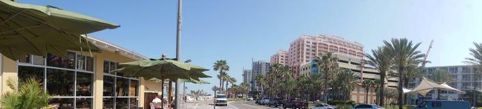 Panorama en la playa la Florida de Clearwater fotografía de archivo libre de regalías