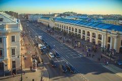 Panorama en los tejados en St Petersburg Fotografía de archivo