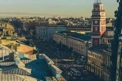 Panorama en los tejados en St Petersburg Fotos de archivo