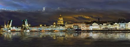 Panorama the English embankment in St. Petersburg Stock Image