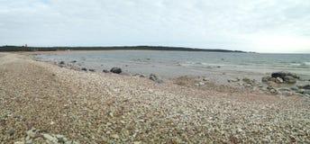 Panorama entlang Ristna-Strand auf Hiiumaa Lizenzfreie Stockfotografie