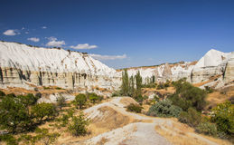 Panorama of the entrance to Love valley, Cappadocia Royalty Free Stock Photo