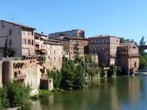 Panorama of the Episcopal city of Albi in the south west of France. royalty free stock image
