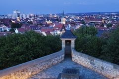 Panorama of Erfurt. At evening. Erfurt, Thuringia, Germany stock images